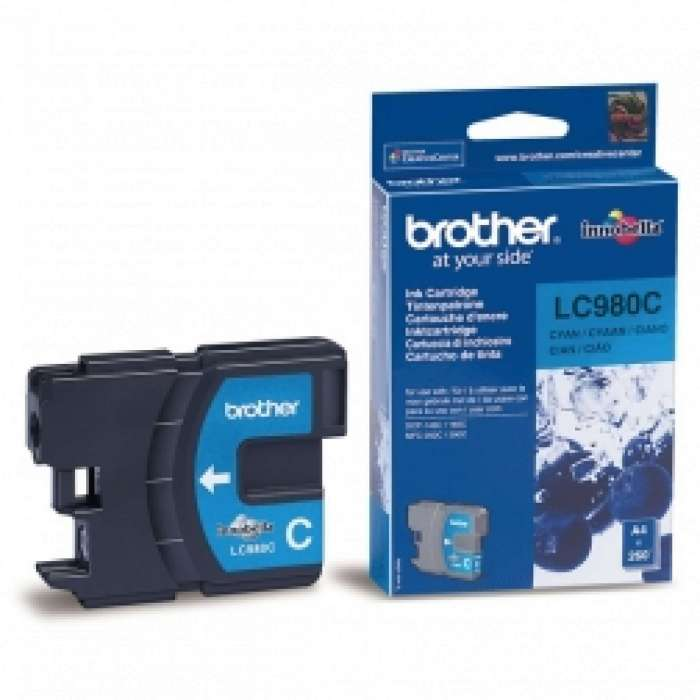 ראש דיו כחול Brother LC980C מקורי