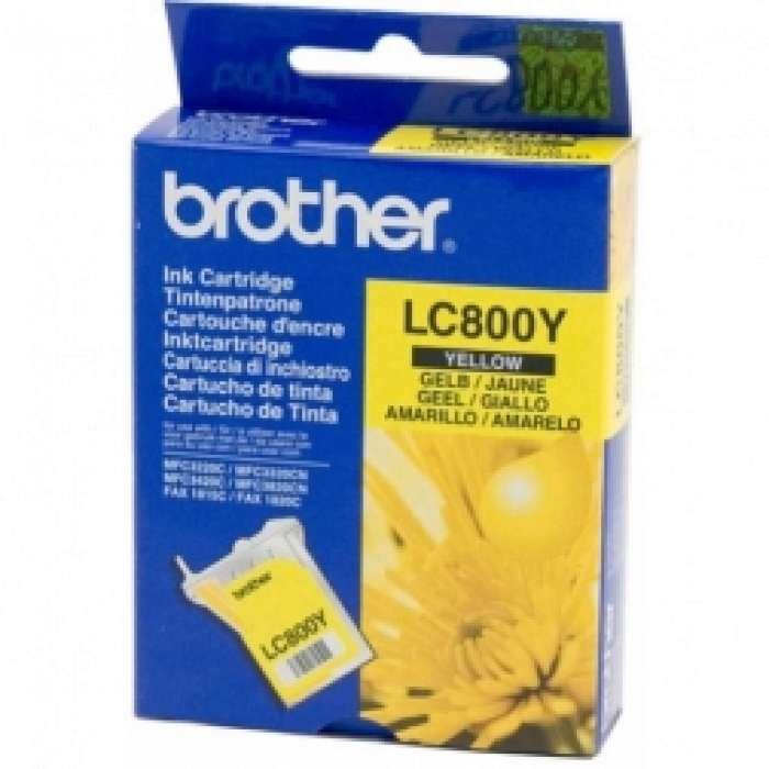 ראש דיו צהוב Brother LC800Y מקורי
