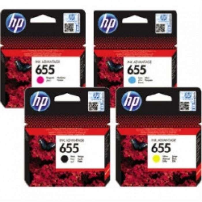 סט 655 HP שחור  אדום כחול צהוב מקורי