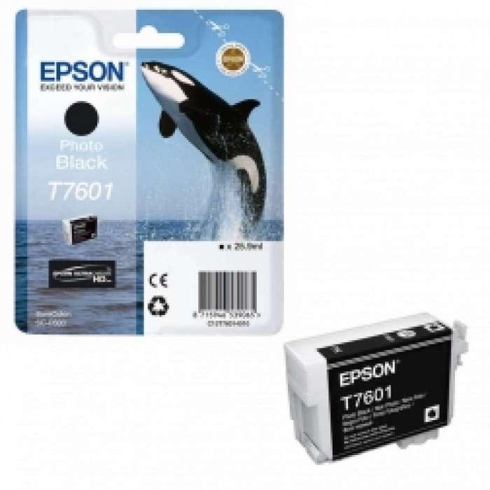 דיו שחור פוטו מקורי EPSON T7601
