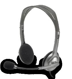 אוזניות חוטיות Logitech H110